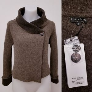 CHIARA MENTE ✨made in Italy✨Wrap Sweater Brown S